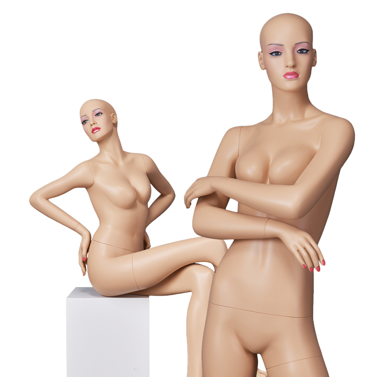 Life size makeup nude most realistic sexy real looking lifelike fashion busty female stand mannequin face for sale
