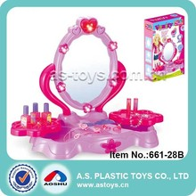 Play At Home funny fashion pink pretend glass dresser toy for girl