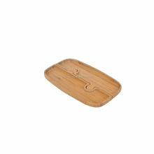 Wholesale Bamboo 3 Part Entertainment Set and Snack Serving Tray