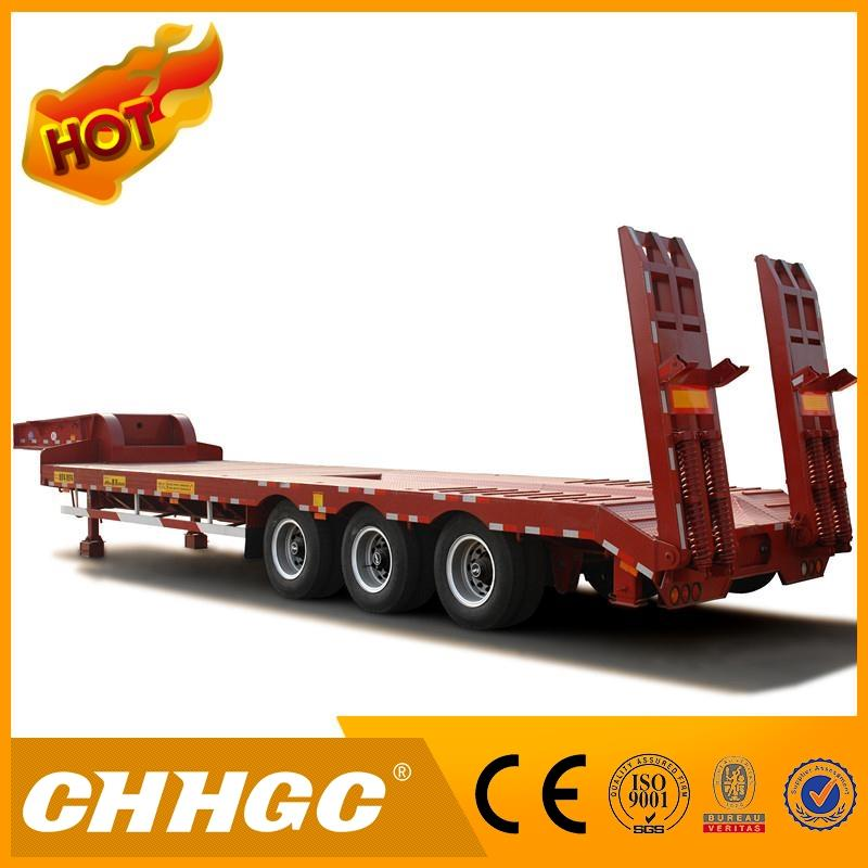 Hot selling 100 ton lowbed semi trailer, tri-axles gooseneck lowboy, 4 axle low bed semi trailers