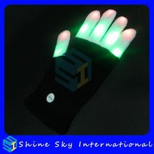 Contemporary Hot Sell Costume Accessory Led Flashing Glove