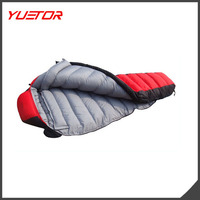 Portable Warm High Quality Duck Down Sleeping Bag for camping