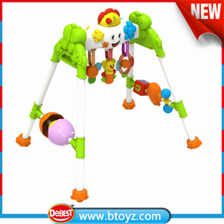 Plastic Baby Play Gym , Baby Activity Gym Toy with Rattle and Teether