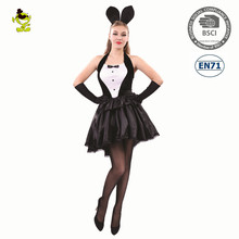 Halloween party sexy cute latex bunny cosplay costume