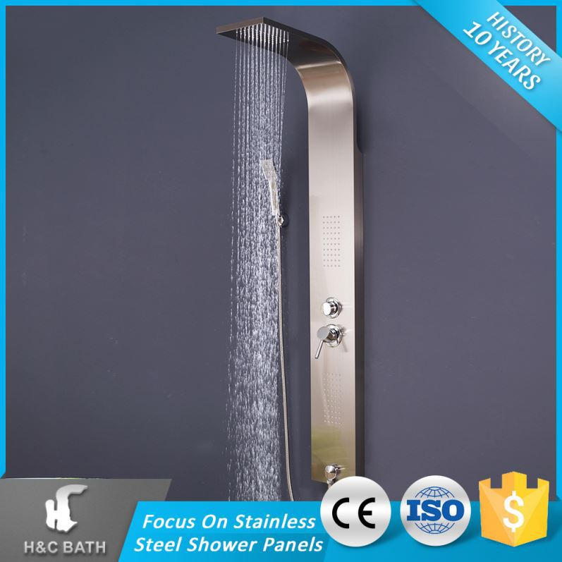 Excellent Quality Spraying Massage Steel Top Waterfall Panel Shower