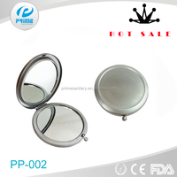 Concave shaving round small compact mirror