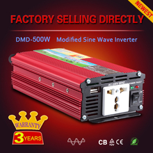Modified sine wave car power inverter 12v 500w inverter without battery