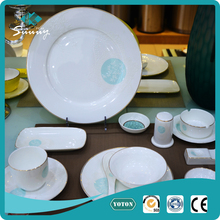 dish plates have 11pcs include tea pot ashtray and plates porcelain dinner set