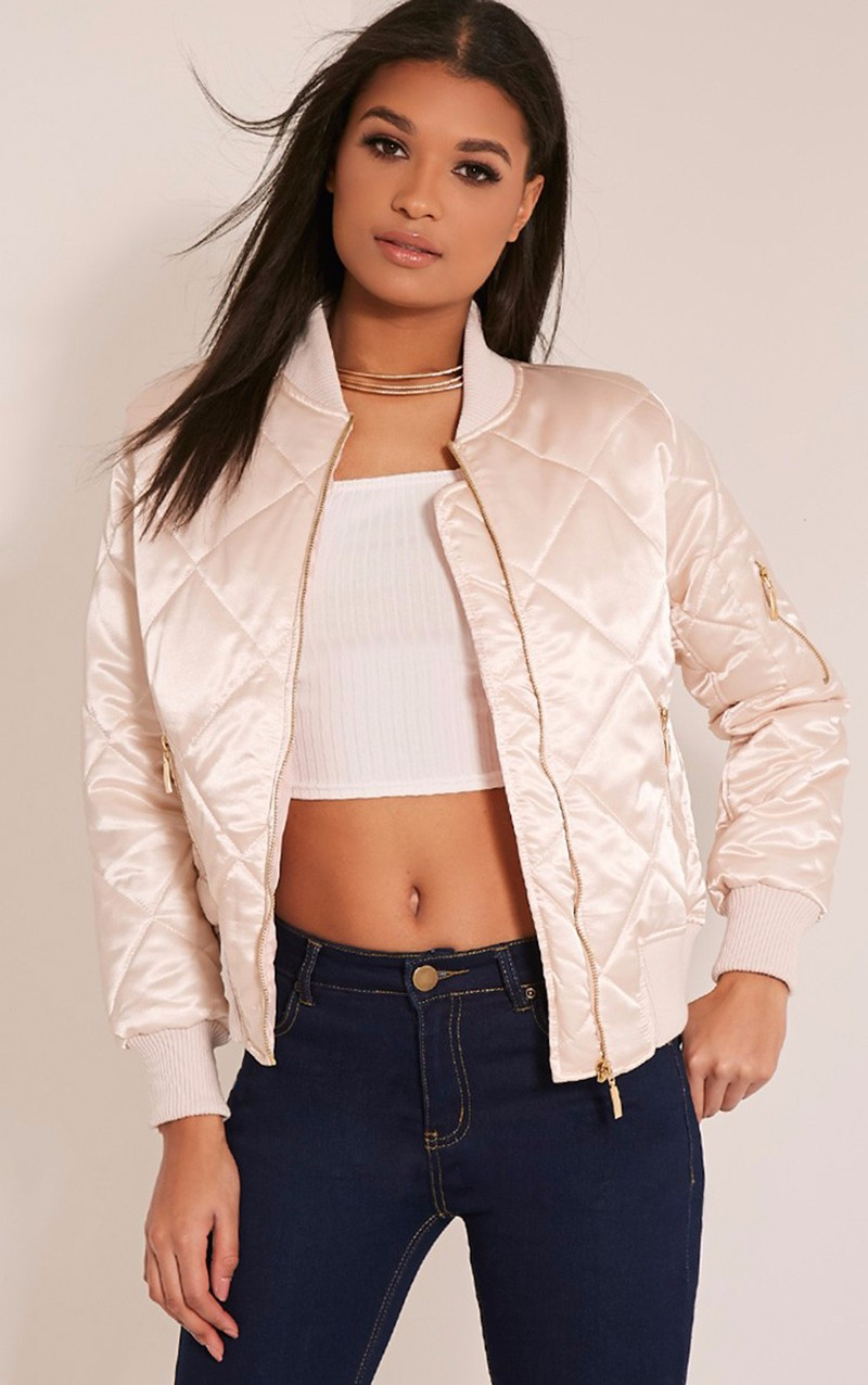 100% top quality satin bomber jacket