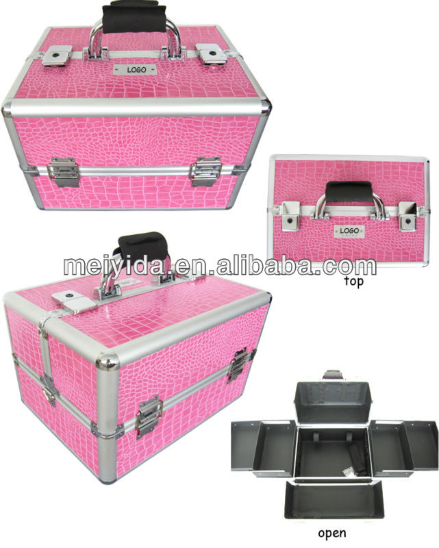 China supplier professional aluminum beauty case, professional hairdresser carrying case, hard case cosmetic bag & make-up bag