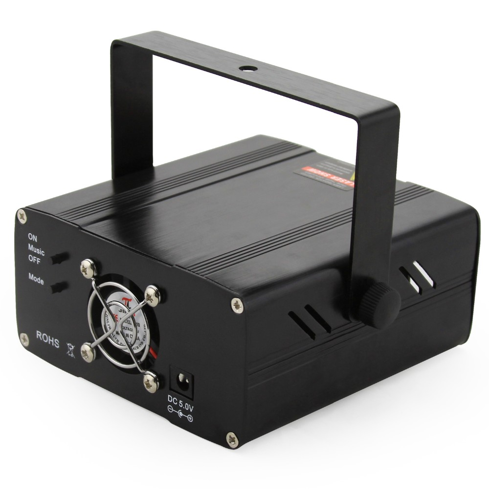 Sidiou Group SR-11 Sound Activated Mini Laser Lighting, Green and Red, 2011 Newest Version, Black Model