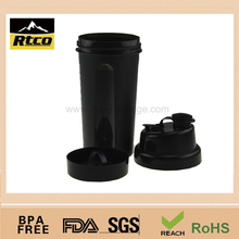 Small custom logo plastic drinking shaker bottle for gym