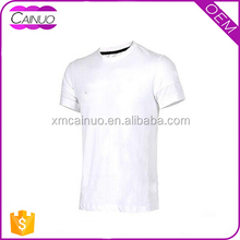 Summer good quality sport plain white mens reversible t shirts