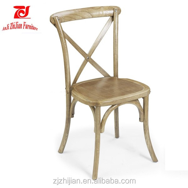 Stackable Wholesale Wood Chair Cross Back Cheap Zjc25