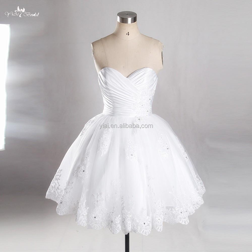Rsw763 sweetheart neckline puffy skirt sexy short mini for Buy short wedding dress