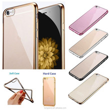 Ultra Thin Clear Rubber Silicone Soft TPU OR Hard Plastic Phone Case Cover For apple iphone For samsung Cell Phones