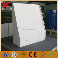 Factory cheap white melamine greeting card display wholesale racks