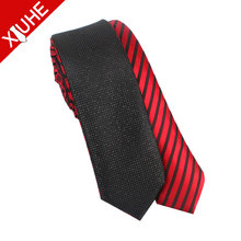 Polyester Fashion Reversible Black and Red Man's Tie