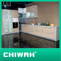 modulated kitchen cabinets high gloss white color
