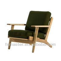 HANS J. WEGNER easy chairsolid wood fabirc hans J.Wegner Danish easy chair sofa furniture
