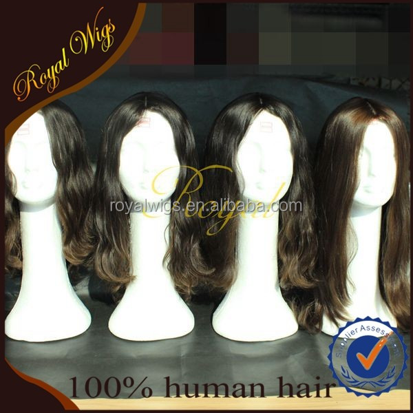 New Arrival Silk Top Mongolian Hair Kosher Wig with Kosher Certificate