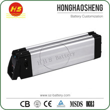 ISO9001 factory price lithium 36V 15Ah li ion ebike silverfish battery