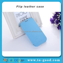 Customized PU Leather Flip Cell Phone Cover For Samsung Galaxy S3 Case (Blue)
