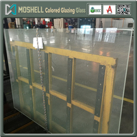 High quality colored glaze shower enclosure glass colored laminated glass with factory price