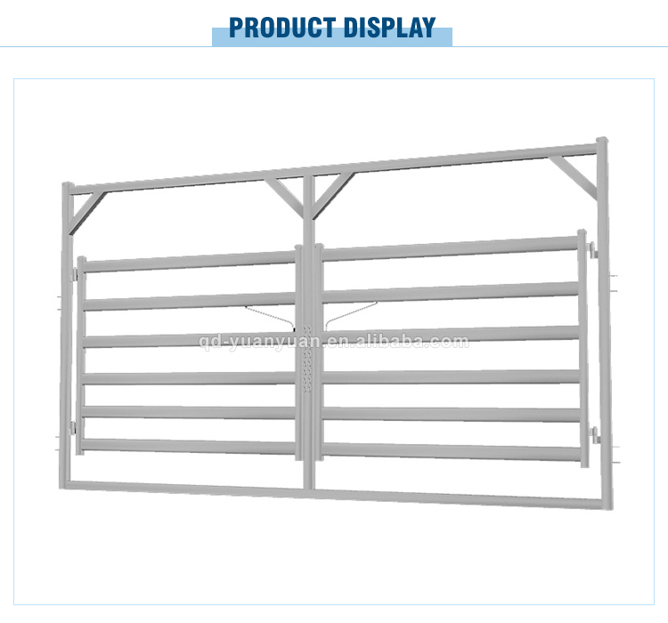 Cheap Price Cattle Rail Double Gate Pipe Corral Portable Sheep Panel ...