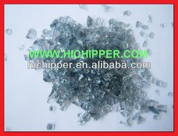 Grey colored decorative glass chips