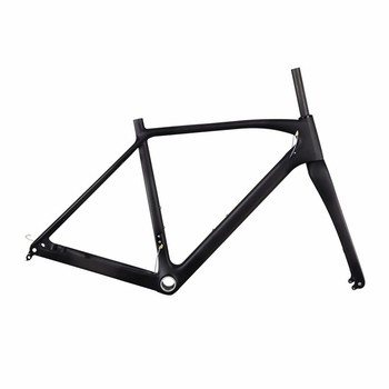 2017 New Model Carbon Disc Brake CX Flat mount 142*12mm thru axle cyclocross bike frame