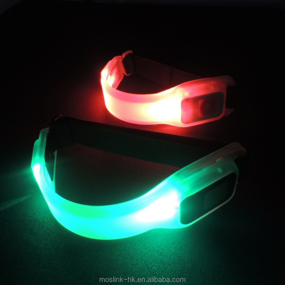 2017 New Promotion Led Flashing Armband Outdoor Night Safety Item Sport Silicon Led Armband For Running
