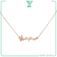 hope fashion chain rose gold necklace