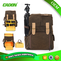 CADEN dslr camera sports waterproof denim photography rucksack backpack wholesale