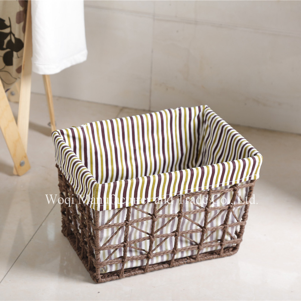 2017 High Quality Willow picnic plastic weave basket cheap wicker China customized folding wooden storage basket