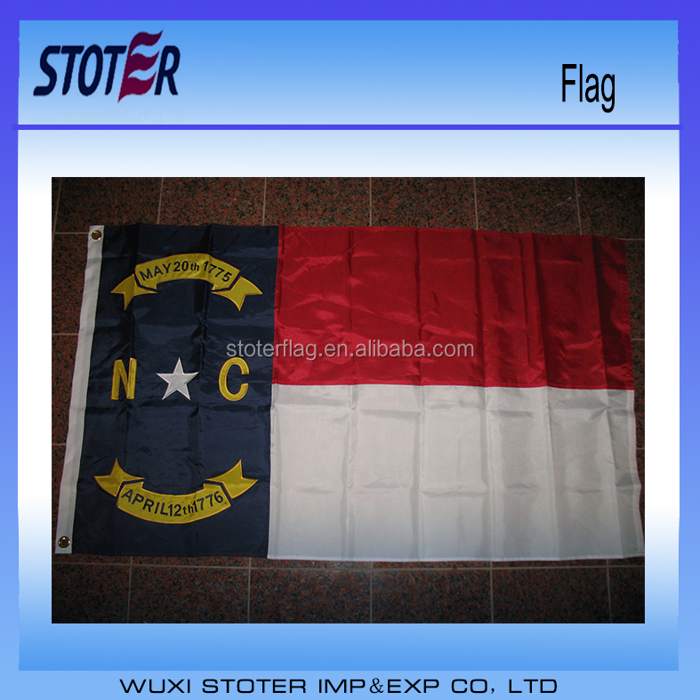 Custom cheap polyester 3*5 North Carolina States flags North Carolina flags
