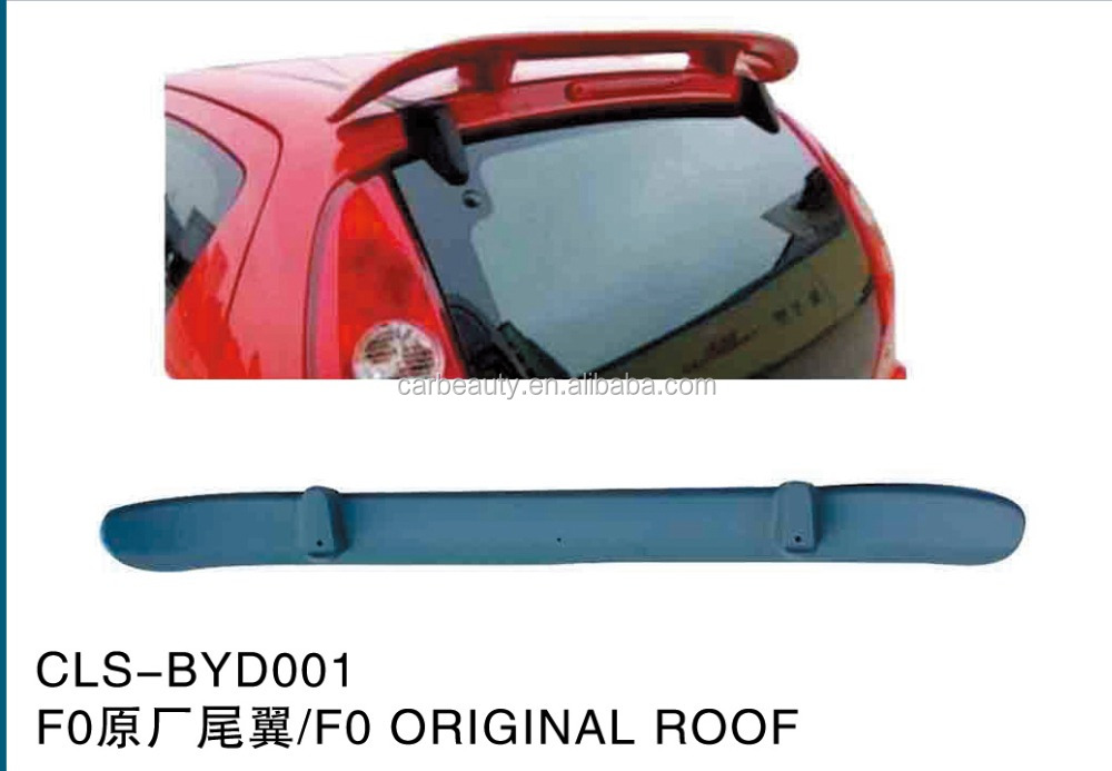 BYD001 ABS car rear roo spoiler for BYD F0 original roof