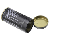 Empty tin can for battery storage metal round can