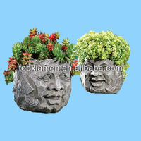 Rock Face Garden Head Planter