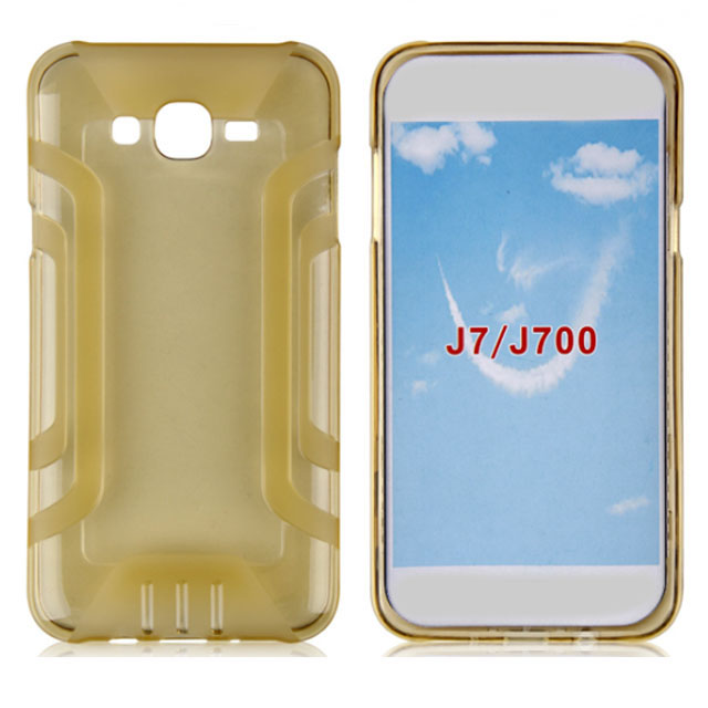 J7 Custom Clear Silicone TPU Plastics Cell Phone Case Back Covers