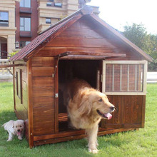 Customized Wooden Outdoor dog Kennel waterproof dog house with Multi size
