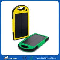 Solar System Portable Waterproof Cell phone portable charger