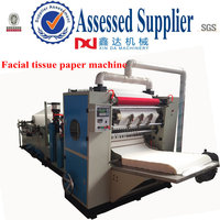 Full auto high speed 4 line paper facial cutting machine,facial paper folding machinery price