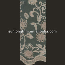 french lace fabric with flower embroidery
