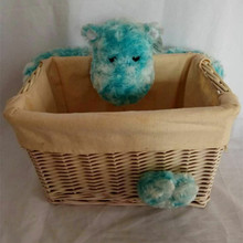 Cute plush <strong>animal</strong> with basket