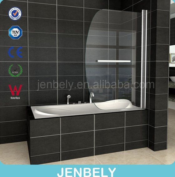 6mm Arc-shaped Shower Glass Bathtub Screen