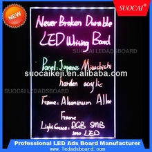 2014 New Inventions advertising solution writable Led Illuminated Fluorescent Neon light Sign