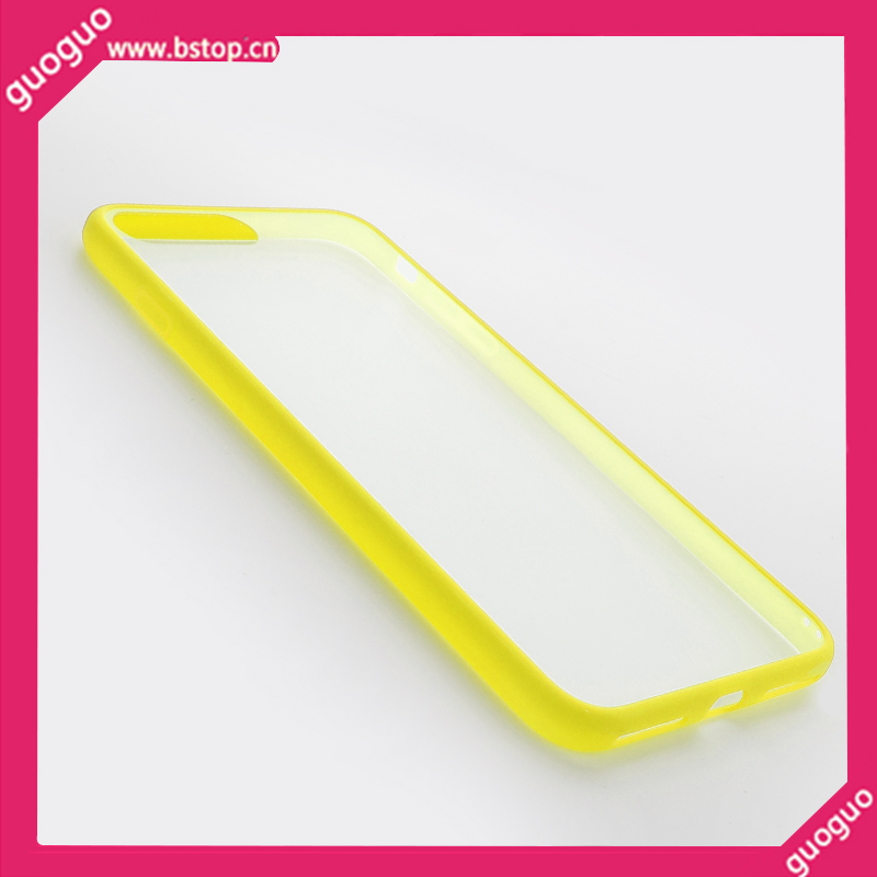 Ultra slim frame bumper hard plastic tool mobile case FOR IPHONE 7 7S