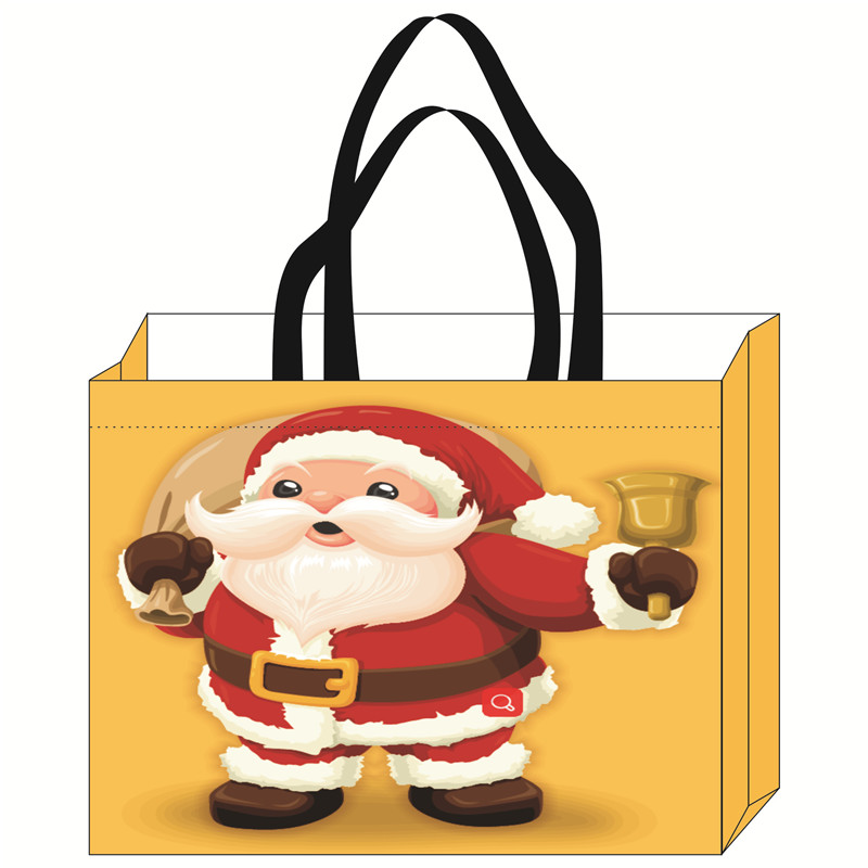 100% PP custom OEM non woven the christmas tree shops stocking shape gift shopping bag