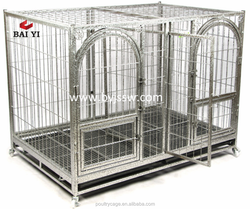 Heavy Duty Galvanized Portable Square Tubing Cage For Dogs